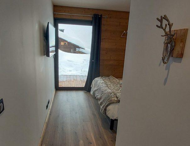 Accès à la grande chambre Cachemire à louer au pied des pistes de ski Les Saisies
