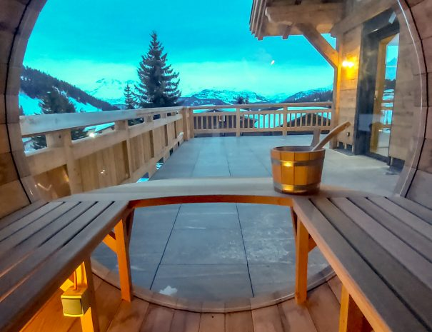Sauna retour des pistes de ski des Saisies