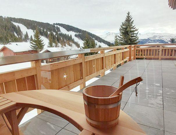 Sauna pistes de ski La Legette Les Saisies
